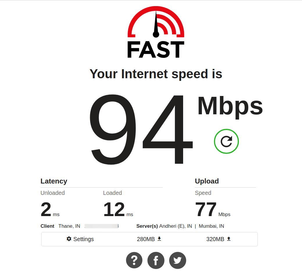 Test Internet Download Speed