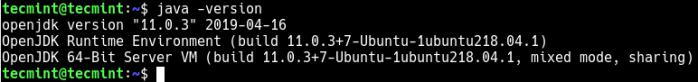 Check Java Version in Ubuntu