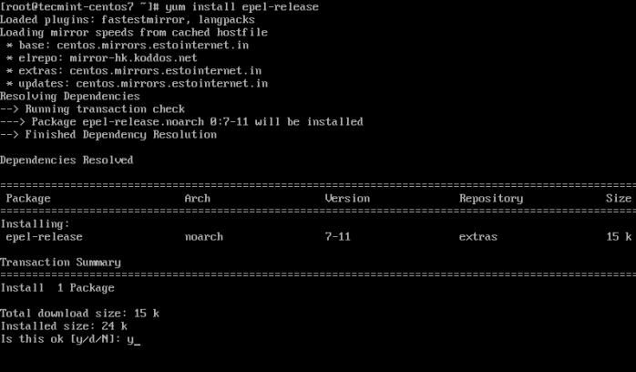 Install Epel in CentOS 7