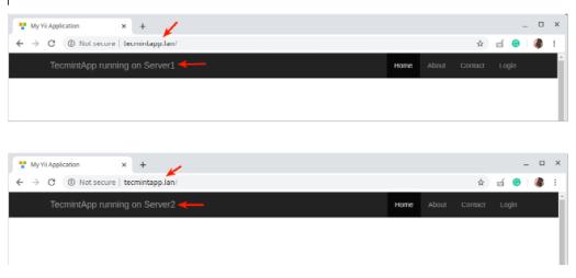 Check Nginx Load Balancing in Linux