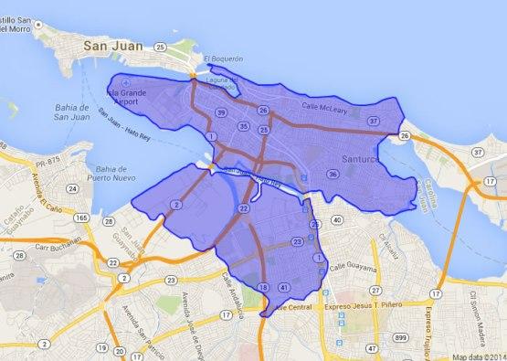Mapa que muestra las áreas donde, al momento de lanzamiento, está disponible el servicio de internet de 1 gigabit (Ilustración: Critical Hub Networks)
