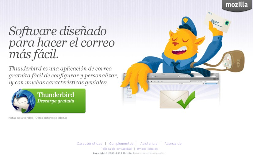 Thunderbird descarga