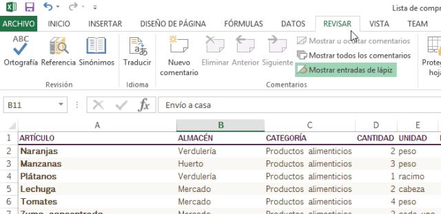 """Cómo añadir comentarios en Excel - Pestaña o tab """"Revisar"""""""