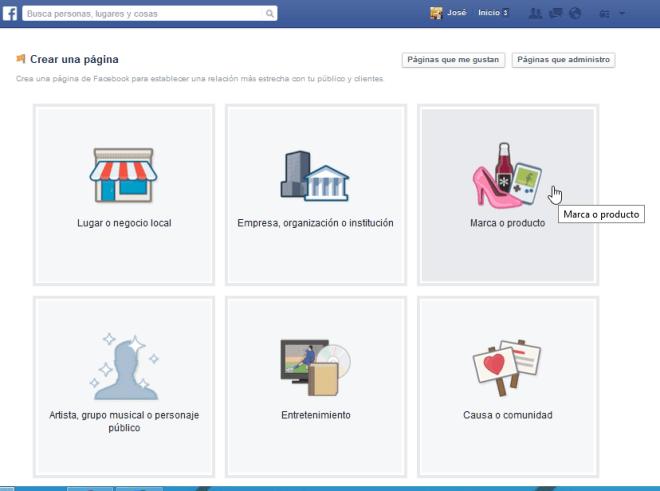 Cómo crear tu propia página de Facebook - Tipos de páginas de Facebook