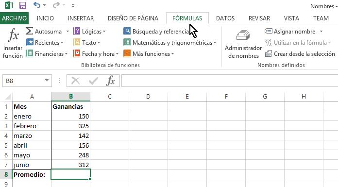 Cómo calcular el promedio en Excel - TecniComo