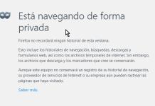 Cómo navegar la web en modo incógnito, Ventana en modo privado en Firefox