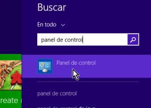 Cómo acceder al Panel de control en Windows 8