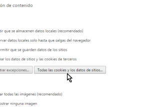 Cómo borrar cookies en Chrome