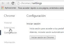 Configuración de Extensiones en cómo deshabilitar extensiones de Google Chrome