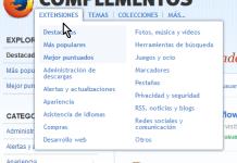 Enlace de extensiones en cómo instalar extensiones para Mozilla Firefox