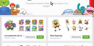 Pantalla principal de la Tienda de stickers en cómo usar los stickers de Facebook