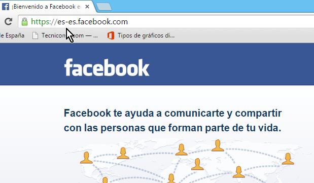 Accediendo Facebook en español de España en cómo abrir Facebook en Español