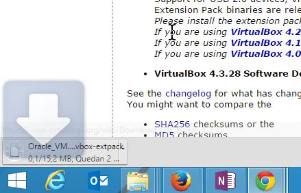 Ejemplo mostrando descarga por defecto de Chrome en cómo configurar Chrome para preguntarme antes de descargar un archivo