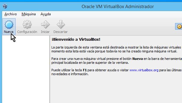 Botón para crear una nueva máquina virtual en cómo crear una máquina virtual de Ubuntu en VirtualBox