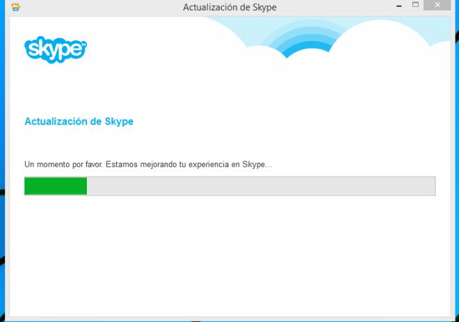 Barra de progreso de la instalación de Skype en cómo descargar e instalar Skype en Windows 8