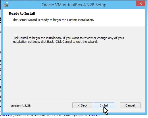 Botón Install para instalar VirtualBox en cómo descargar e instalar VirtualBox en español