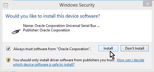 Botón para instalar los drivers USB de VirtualBox en cómo descargar e instalar VirtualBox en español