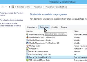 Cómo desinstalar un programa en Windows 8
