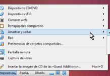 Opciones de Arratrar y soltar del menú de herramientas en cómo habilitar arrastrar y soltar en VirtualBox