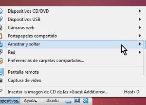 Cómo habilitar arrastrar y soltar en VirtualBox