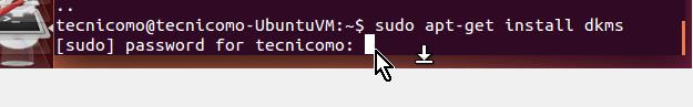 Instalación del programa dkms en cómo instalar los Guest Additions de VirtualBox en Ubuntu