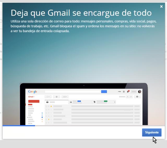 Breve presentación de las características principales de Gmail en cómo crear una cuenta de Gmail en español