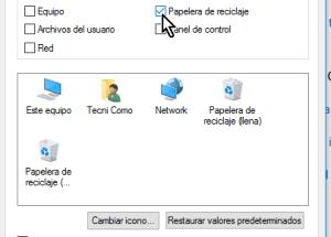 Cómo ocultar la Papelera de reciclaje del Escritorio en Windows 10