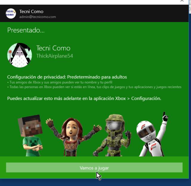 Botón Vamos a jugar en cómo jugar solitario en Windows 10