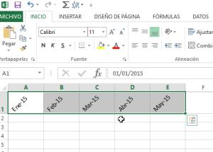 Cómo cambiar la orientación de las celdas en Excel 2013