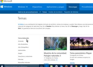Cómo obtener más temas para Windows 10 en línea