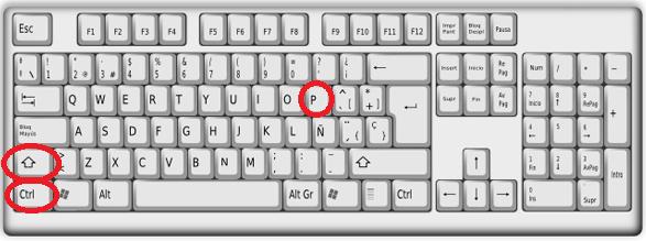 Combinación de teclas para activar modo provado con el teclado en cómo navegar en modo incógnito con Microsoft Edge