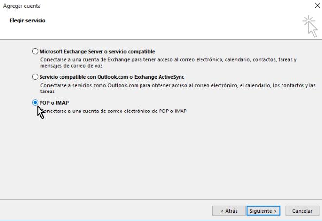 Eligiendo el servicio POP o IMAP en Outlook en cómo configurar tu cuenta de Gmail en Outlook 2013 usando IMAP