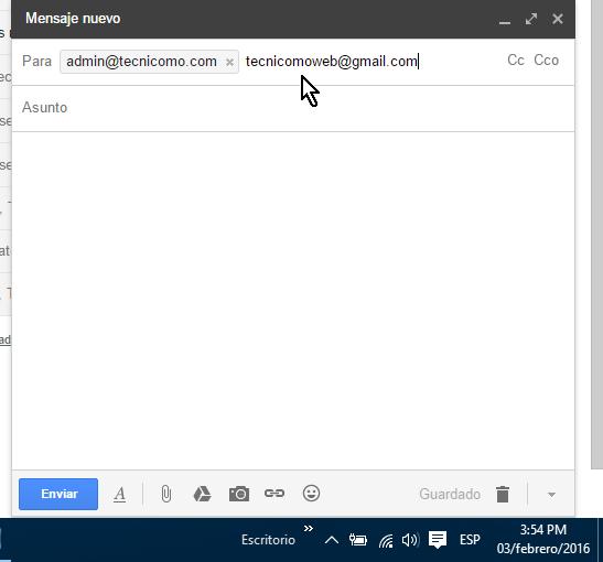 Entrando varias direcciones de correo electrónico en cómo crear y enviar un correo electrónico en Gmail