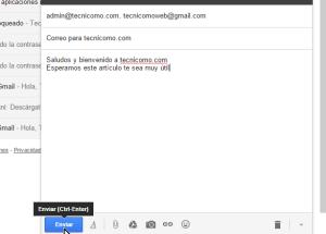 Cómo crear y enviar un correo electrónico en Gmail