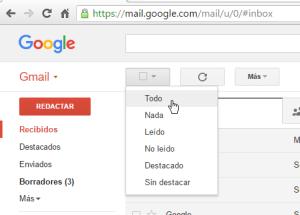 Cómo borrar todos los correos de Gmail