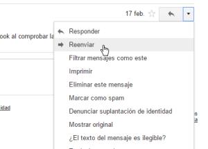 Cómo reenviar un correo en Gmail
