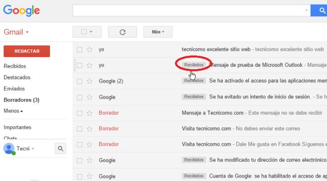 Etiquetas destacadas al mostrar todos los correos en cómo ver todos los mensajes de Gmail