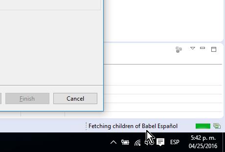 Descargando el paquete de idioma en cómo cambiar el idioma de Eclipse a español