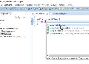 Cómo crear un método main de Java en Eclipse