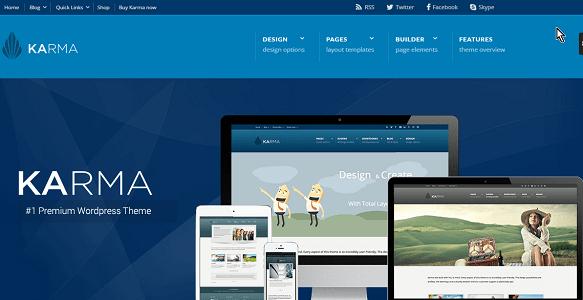 Plantilla Karma en temas premium de WordPress disponibles en español