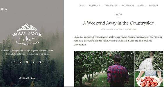 Plantilla Wild Book en temas premium de WordPress disponibles en español