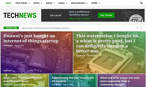 Plantilla NewsMag en temas premium de WordPress disponibles en español