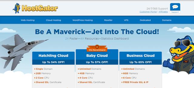 Análisis de los planes de cloud hosting o alojamiento web en la nube de HostGator
