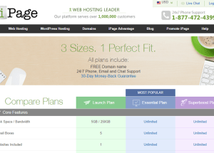 Análisis de los planes de alojamiento web de iPage