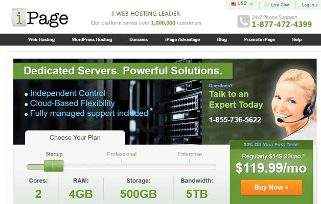 Análisis de los servidores dedicados de iPage