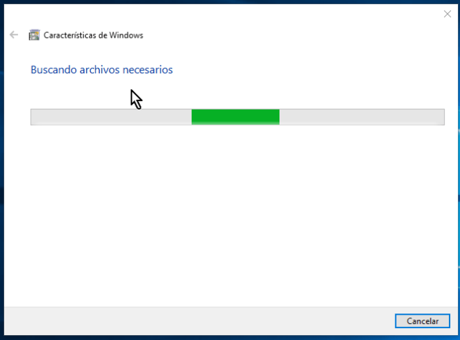 Windows buscando los archivos necesarios en cómo habilitar VirtualBox 64 bits en Windows 10
