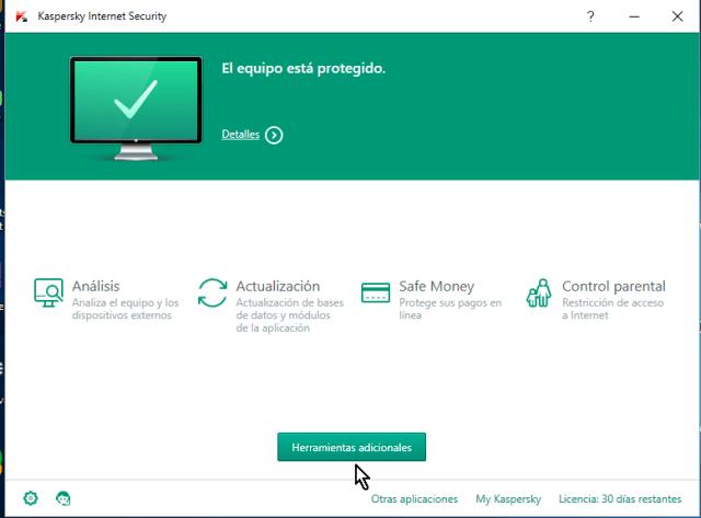Aplicación instalada en cómo descargar e instalar el antivirus Kaspersky Internet Security - Multidispositivos 2016