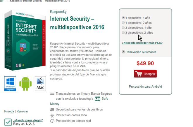 Términos de licencia más populares en cómo descargar e instalar el antivirus Kaspersky Internet Security - Multidispositivos 2016