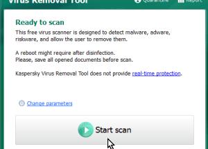 Cómo descargar y usar Kaspersky Virus Removal Tool