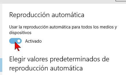 Cómo habilitar o deshabilitar la reproducción automática en Windows 10